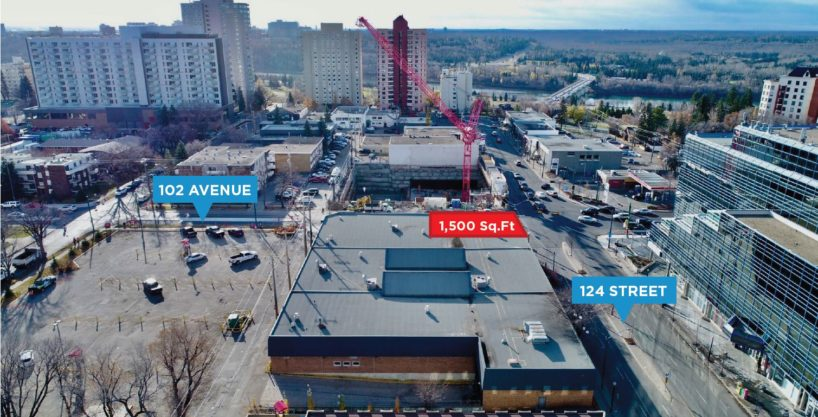 124 Street Retail Space – 12328-102 Avenue, Edmonton, AB